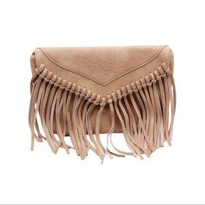 Brown lady casual tassel small purse